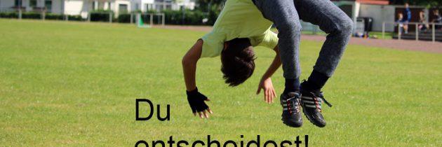 Du entscheidest: Fußball vs. Leistungstanzsport